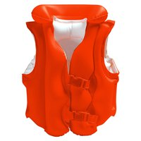 Intex Inflatable Orange Life Jacket With Buckles - 50X47 Cm