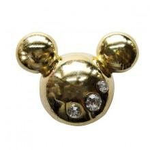 Jibbitz Metal Mickey Head Gold